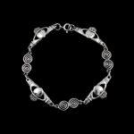 Sterling Silver Claddaugh Spiral Bracelet