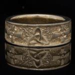 14 kt. Gold Celtic Cross Trinity Wedding Ring