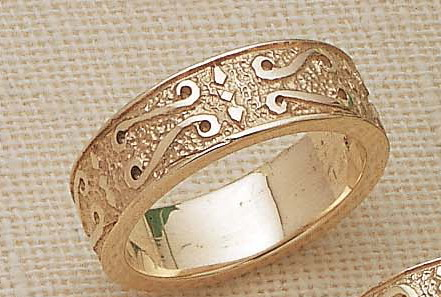 14kt gold 6mm medieval energy knot wedding band - Medieval Wedding Rings