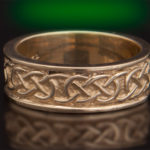 14kt Gold 6mm St. Michael's Knot Wedding Ring