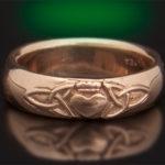 14kt Trinity Claddaugh Wedding Ring 7mm