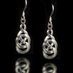 Celtic Love Knot Wire Drop Earrings