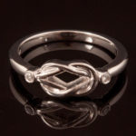 Celtic Overlapping Unity Knot Diamond Ring