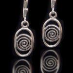 Celtic Spiral Lever Back Earrings