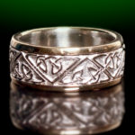 Two Tone Celtic Love Knot Wedding Ring 12 mm