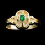 14kt Celtic Cross Emerald Ring
