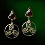 Triskelle Topaz Earrings