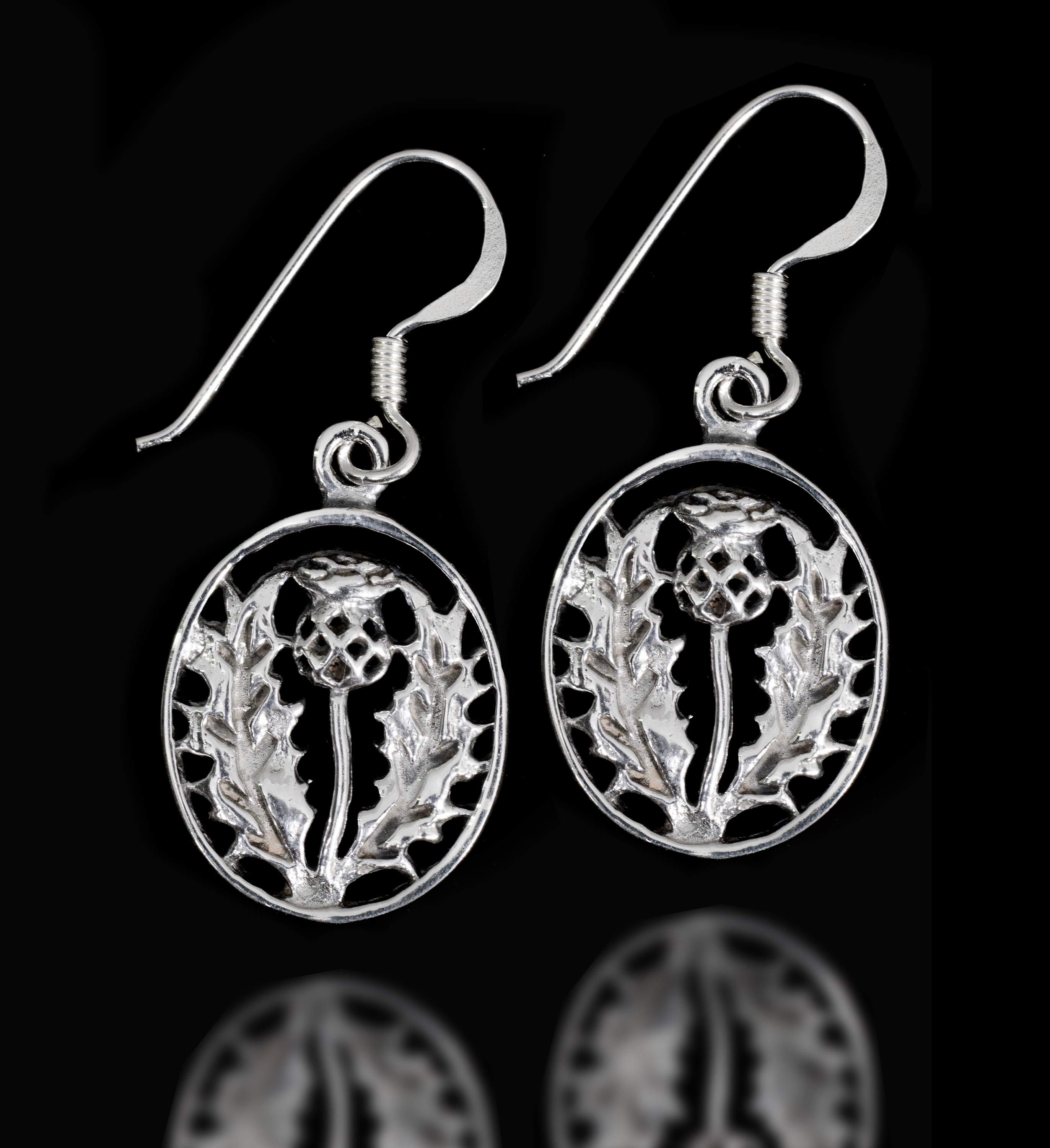 a1ae1c00d Sterling Silver Scottish Thistle Earrings