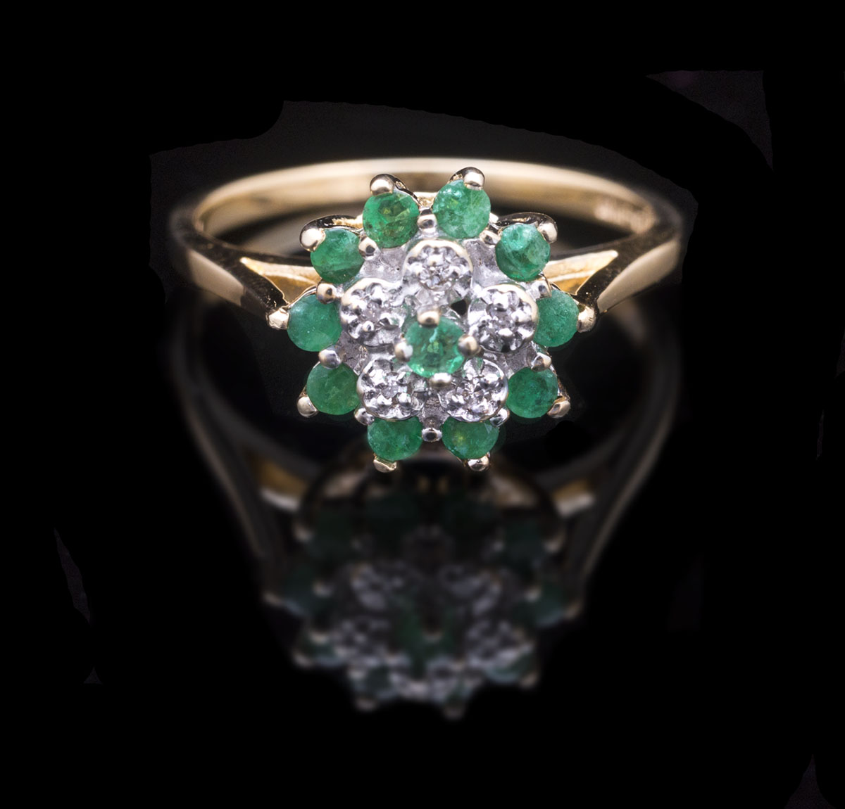 ring diamond vintage cocktail