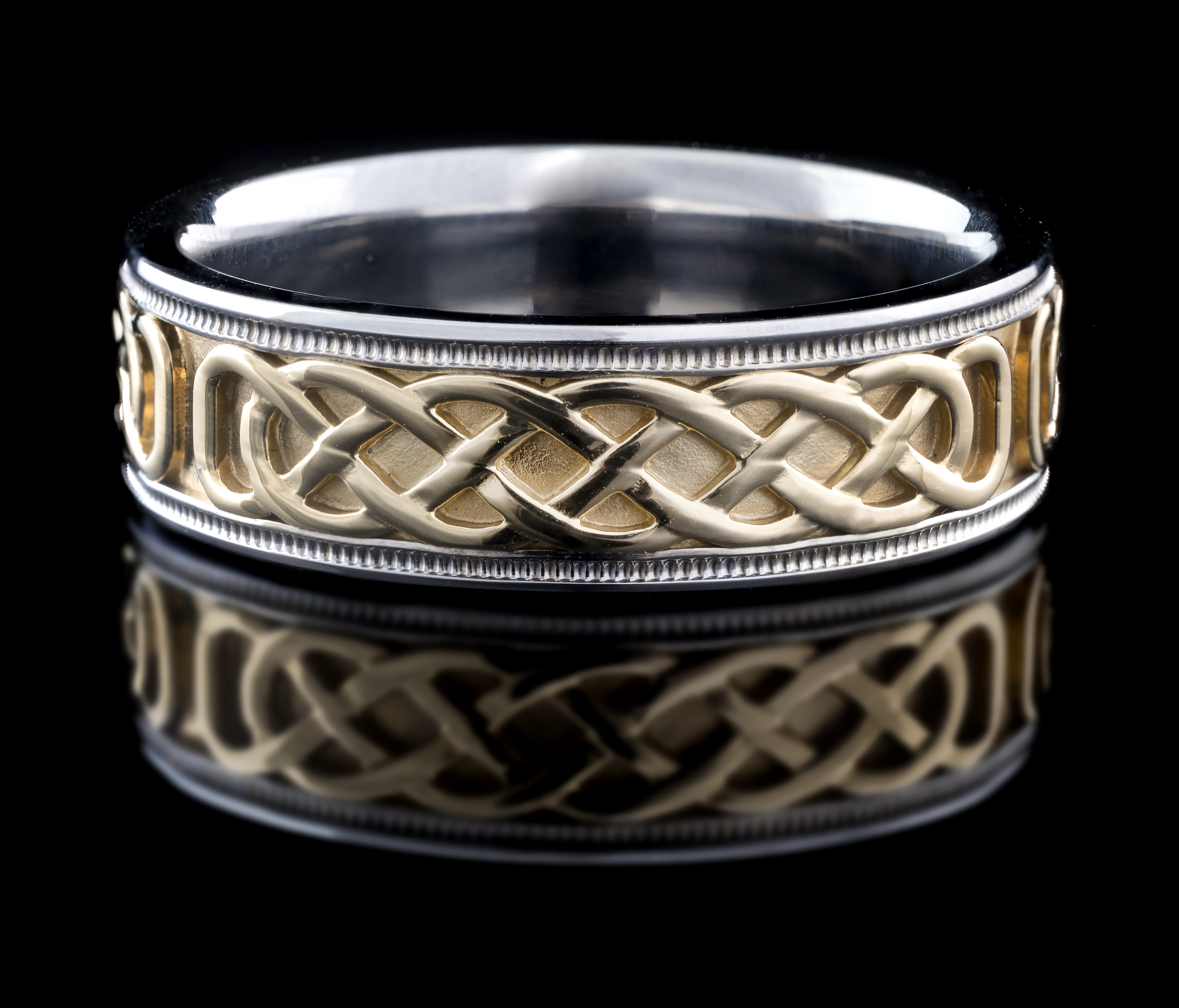 product two celtic ring eu tapered trinity wedding rings knot tone